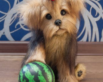 Puppy Loly Yorkies! Yorkshire Terrier, York toy, Toy, little York, Terrier , dog, plush dog, plush toy, teddy york (made to order)