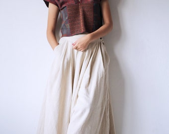 wide leg pants... (1418) Hemp/Cotton