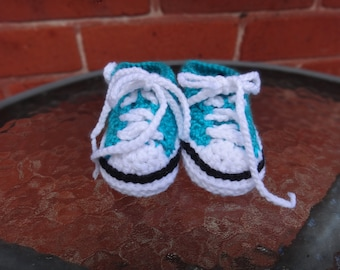 Baby easter gift etsy blue baby converse baby boy sneakers blue running shoes crochet shoes baby negle Gallery