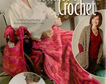 Crochet Patterns,Crochet Book,Comfort Crochet,Chrocheknit Patterns, Crochet Wheelchair Bag, Crochet Prayer Shawl,Crochet Tissue Box Cover