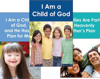 2018 Primary 13-POSTER PACK (color vertical) LDS - I Am a Child of God