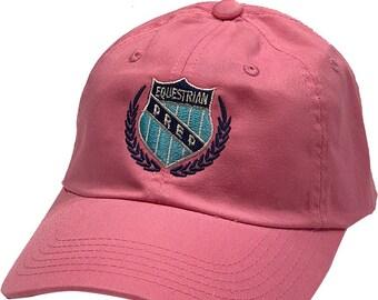 Equestrian Prep Crest Bright Pink Cap