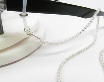 Silver Glasses Chain; Spectacles Chain; Silver Glasses Chain; Silver Glasses Leash; Reading Glasses Holder Necklace; Sunglasses holder