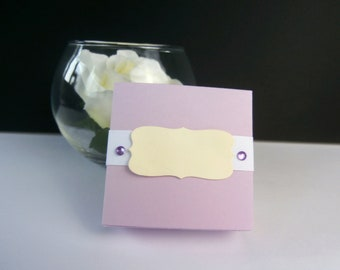 Box dragees wedding - lilac, cream and white