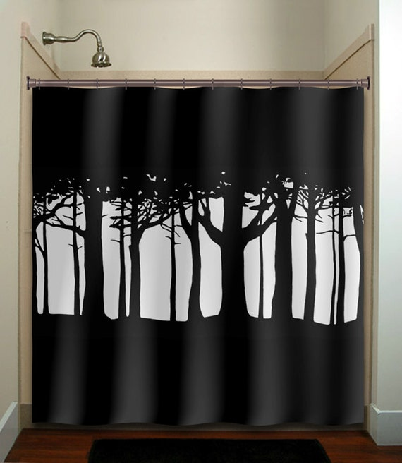 Tree Woods Forest Shower Curtain Extra Long Fabric Window