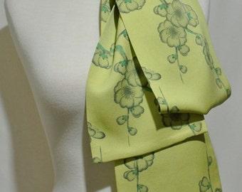 Vintage Kimono Silk Scarf, Obi, Sash