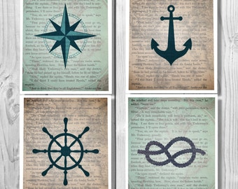 Nautical Decor, Nautical, Anchor Decor, Bathroom Decor Nautical, Bathroom Sign, Nautical Bathroom Decor, Bathroom Art Bathroom Wall Art 0335