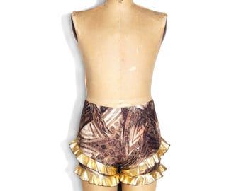 Golden Ruffle Shorties
