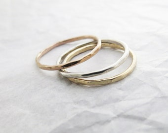 Gold Ring Midi Ring Gift for Her Rose Gold Ring Dainty Ring Best Friend Gift Minimalist Silver Ring Sterling Silver Handmade