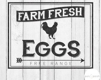 Farm Fresh Eggs SVG - Farm Fresh SVG - Fresh Eggs SVG - Eggs Svg - Farm Fresh Sign - Farm Fresh Eggs Clipart - Farm Fresh Eggs