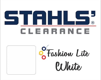 "15"" x 5 Yards - Stahls' Fashion-LITE - Smooth- Craft Roll - Iron-on  Heat Transfer Vinyl - HTV - White"