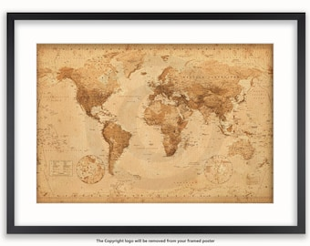 World map poster etsy gumiabroncs Gallery