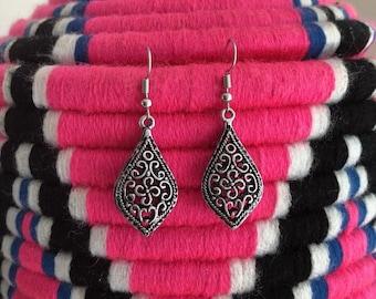 Oriental arabesk earrings / / / engraved silver / 925 Silver hook