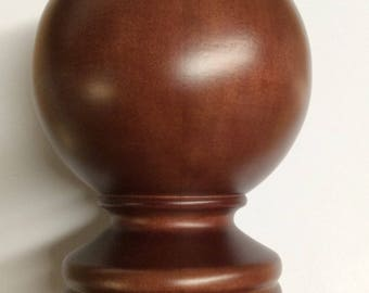 drapery hardware decorative wood FINIAL Mahogany