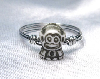 Monkey Ring - Midi Ring - Gold or Silver