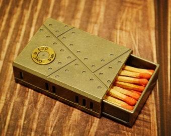 New survival EDC match cases titanium boxes everyday carry pocket Ti store box