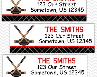 Hockey   - Personalized Address labels, Stickers, Baby Shower, Birthday