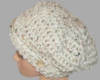 Oversized Hat, Womens Hat, Slouch Style Hat, Winter Hat, Oatmeal Hat, Slouch Hat, Baggy Slouch Hat, Slouchy Hat, Crochet Beanie