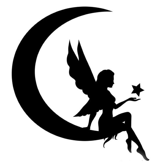 Fairy On Moon Stencil Made From 4 Ply Mat Board