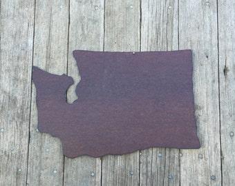 state of Washington, tin state of Washington, Washington wall hanging, rustic tin decor