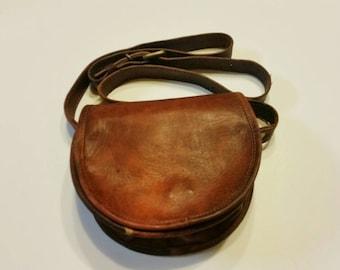 Leather bag, brown leather bag, crossbody leather bag,  small leather bag, handmade leather bag, women's leather bag, leather messenger bag