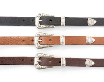 Leather belt made with excellent quality full grain leather - Handmade - Original gift - Black or Brown leather belt - By Bronkey