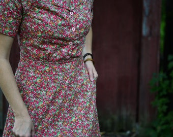 1930's Dress / Vintage Dress / Retro Dress / 1940's Dress / Floral 1930s / 1920's Dress / Summer Dresses for Women / Summer Dress / Cotton