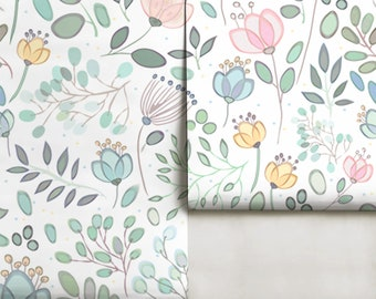 Whimsy Floral Mural • Easy to Apply Removable Peel n Stick or PrePasted Wallpaper in Custom Colors!