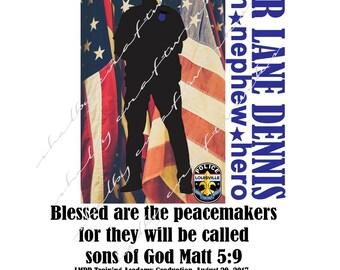 Police Officer Print/ Policeman Hero Print / Police Officer Veteran Print/ Policeman Print  ***FREE SHIPPING