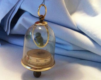 Vintage Bird birdcage thermometer Dollhouse Miniatures Accessoire
