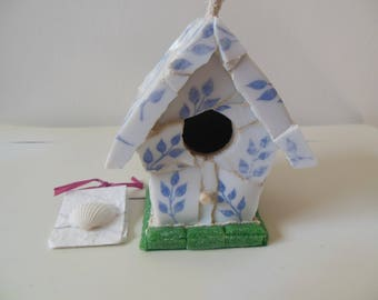 "Fine French China Dinnerware ""Arcopal"" Indoor/Outdoor  Birdhouse"