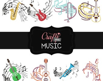 Machine Embroidery Designs - Music Collection of 8
