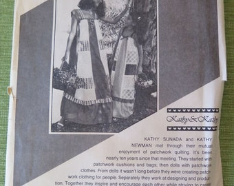 Vintage PAULOA Patterns 2107 Loose Fitting Patchwork Flared Pullover Dress sz XS to XL Uncut