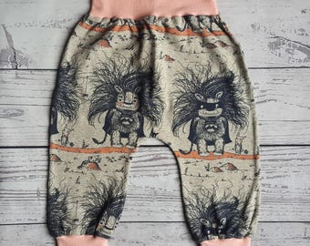 harem pants, baby gift, baby girl clothes, baby boy gift, organic baby clothes, baby leggings, baby harem pants, gender neutral baby