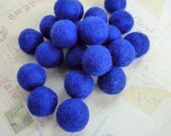 Felt Balls x 20 - Royal Blue - 2cm