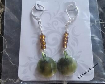 Green & Brown Earrings