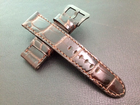 Real leather watch strap in special pattern for 24mm lug width Watch - 24mm/22mm (The strap are fit for all 44mm watches)
