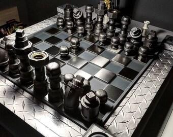Reel Steel themed custom chess board