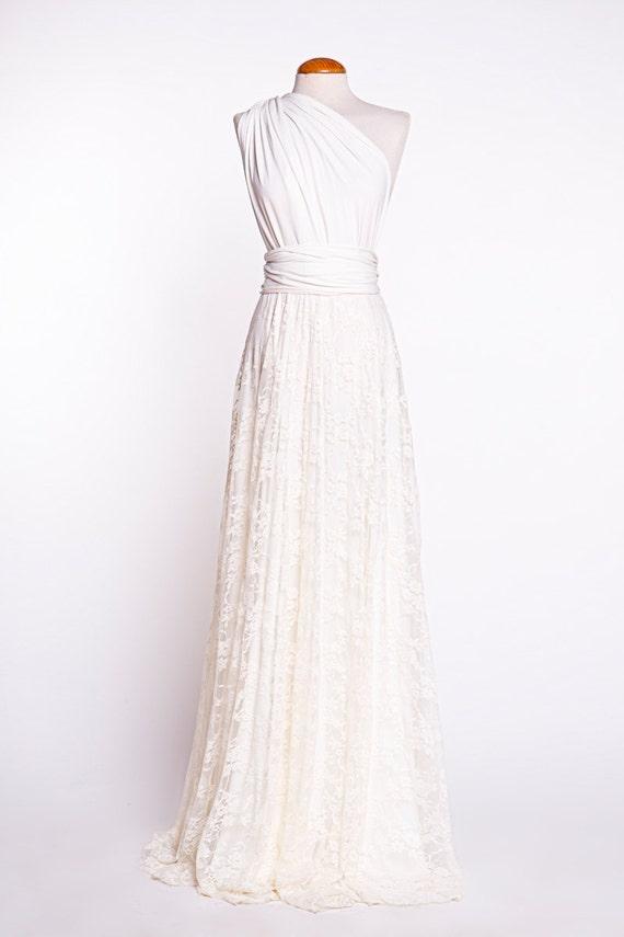 Rustikale Brautkleid gebrochenes Weißen Brautkleid Spitze