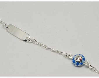 Bracelet girl bracelet with sunflower and silver plate 925% rhodium