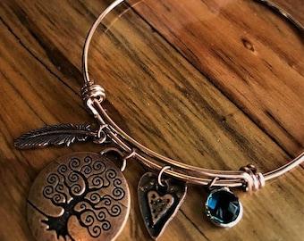 Tree of Life Copper Adjustable Bracelet