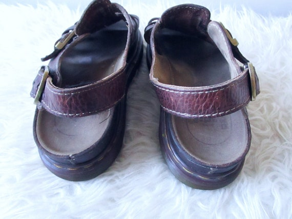 Uk Stitched 10 CHUNKY '90s 8 Sandals Vintage DOC Leather MARTENS Brown Heel Size Wms Fisherman Us qH70xFZwq
