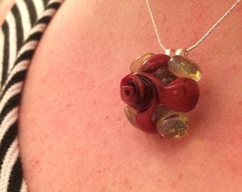 Glass Rose Pendant