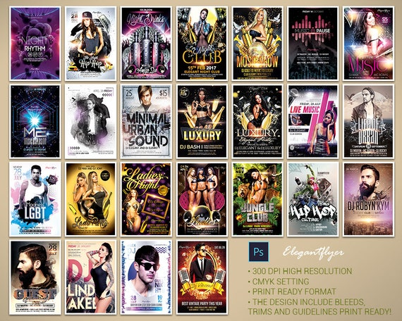 100 Proffesional Flyer Templates l Event flyers l Party flyer