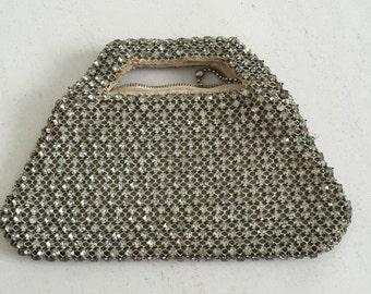 Rhinestone studded vintage evening bag