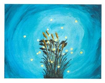 Fireflies, 4x6 Greeting Card