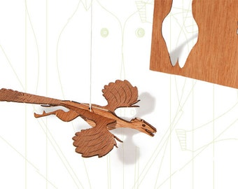 postcard wood - 3 archaeopteryx cards
