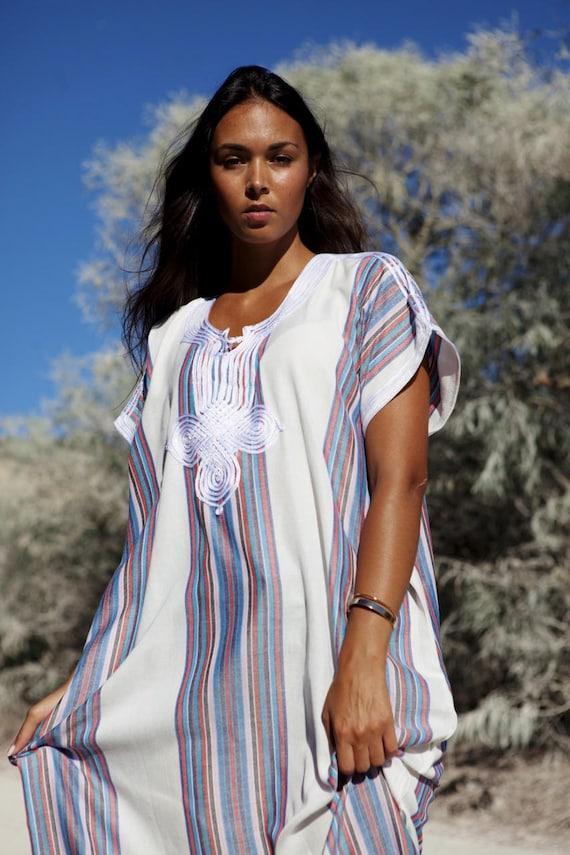White Kaftan Caftan Autumn Dress-Resort Kaftan, abayas, beachwear, beach cover ups,resortwear, beach kaftan, winter dress, bohemian