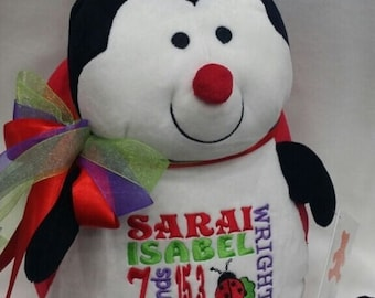 personalized baby gift | birth stat ladybug | stuffed Lady Bug | Birth Stat Gift | Baby Shower Gift | Baby Girl | baby boy | nursery decor
