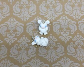 White Rabbit Earrings, Bunnies, Animal Charms, Bunny Earrings, Polymer Clay, Animal Earrings, Animal Jewelry, Rabbits, Bunny, White, Buns